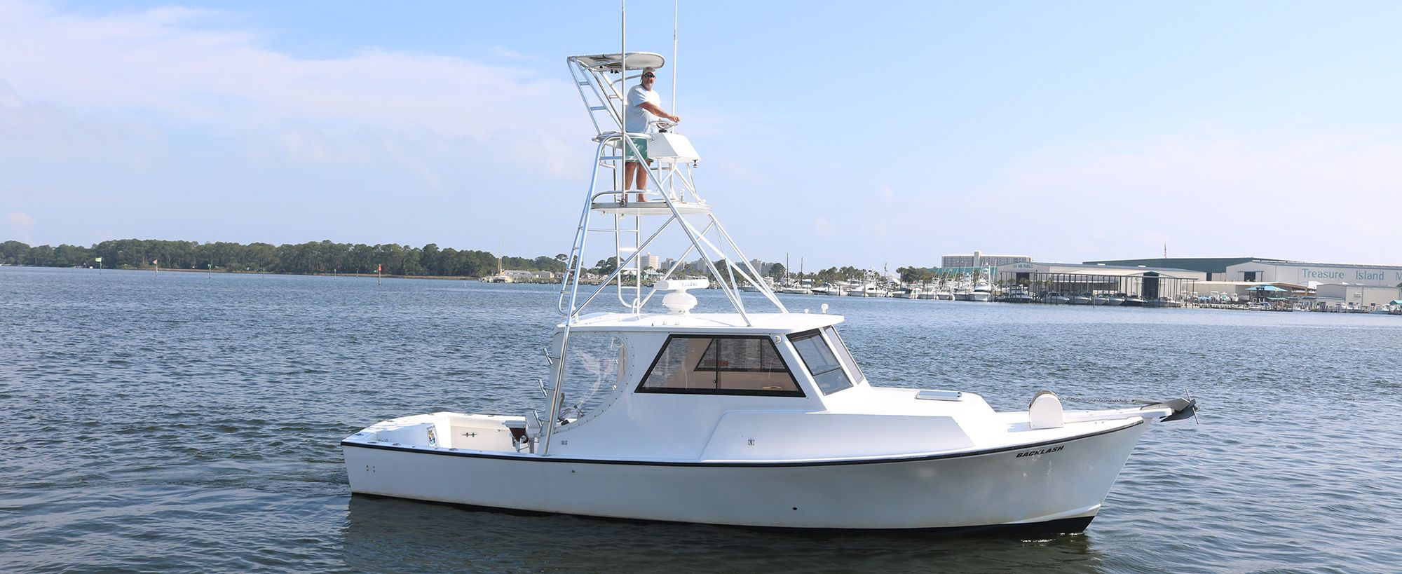deep sea fishing boat named Backlash