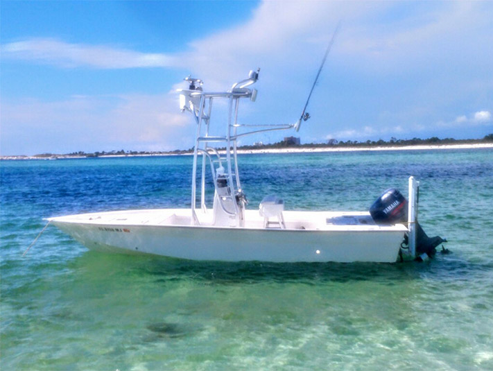 near shore fishing charter boat